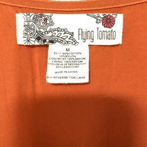 Flying Tomato Dresses - FLYING TOMATO HIGH LOW ORANGE FUSCHIA DRESS